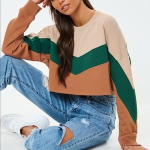 Missguided | Block Color Crop Sweater